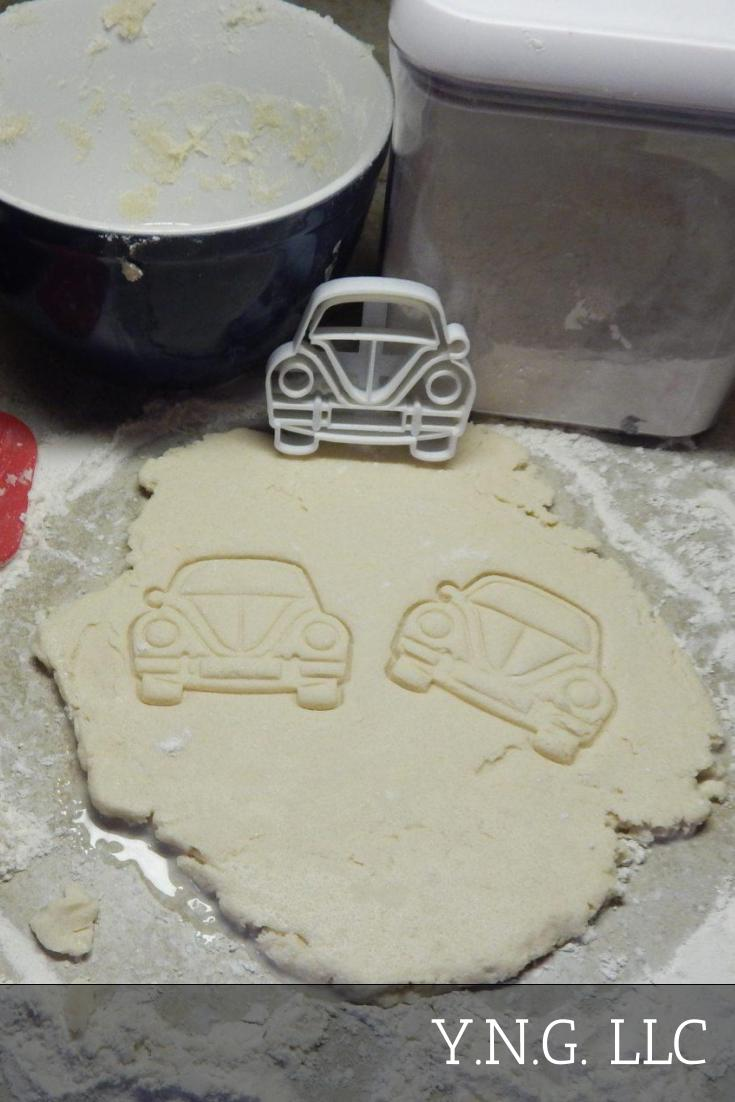 VW Beetle Bug Car Front View Hippies Lovebug Travel Special Occasion Cookie Cutter Baking Tool Made In USA PR2160