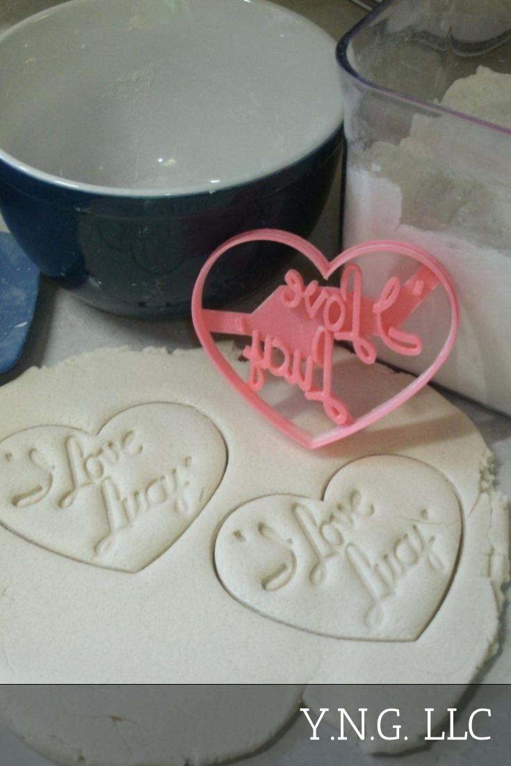 I Love Lucy Old Sitcom 1950s TV Show Heart Logo Cookie Cutter USA PR2869