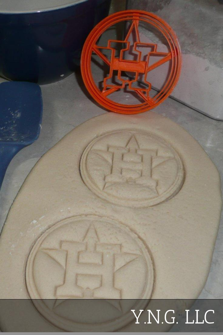 Houston Astros H Star Logo MLB Baseball American Team Sports Athletics Cookie Cutter Made In USA PR2555
