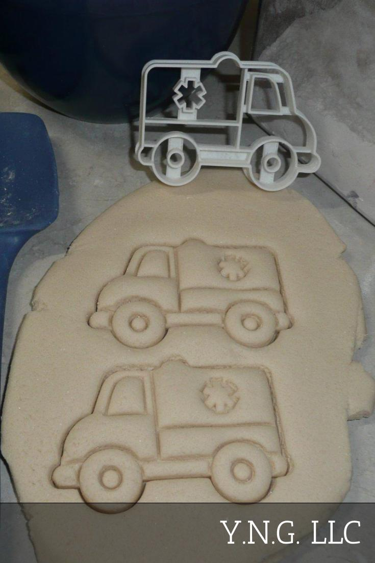 Ambulance Vehicle Medical EMT EMS Patient Transport Cookie Cutter USA PR2605