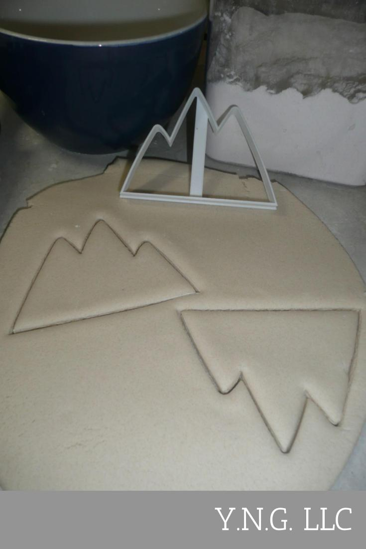 Mountains Or Iceberg Outline Mountain Range Arctic Ice Cookie Cutter USA PR3256