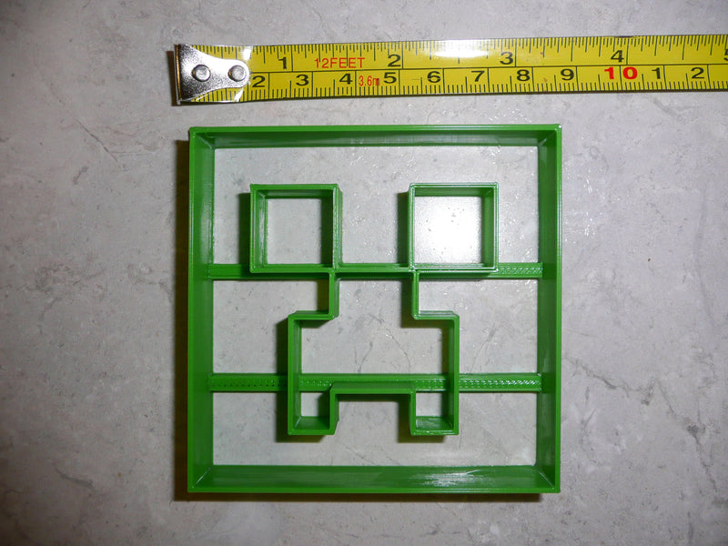 Minecraft Creeper Monster Block Adventure Video Game Special Occasion Cookie Cutter Baking Tool Made In USA PR518