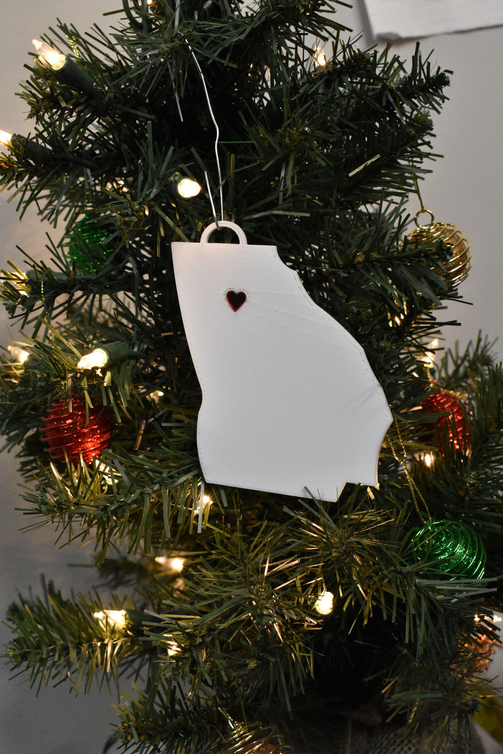 Georgia State Atlanta Heart Ornament Holiday Christmas Decor USA PR244-GA