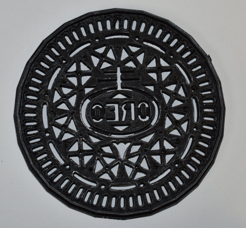 "Oreo Chocolate Sandwich Milks Favorite Cookie Nabisco Special Occasion Fondant Stamp Cutter or Cupcake Topper Size 1.75"" Made in USA FD593"