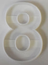 Number Three 3 Outline With Floral Flower Edges Cookie Cutter USA PR3759
