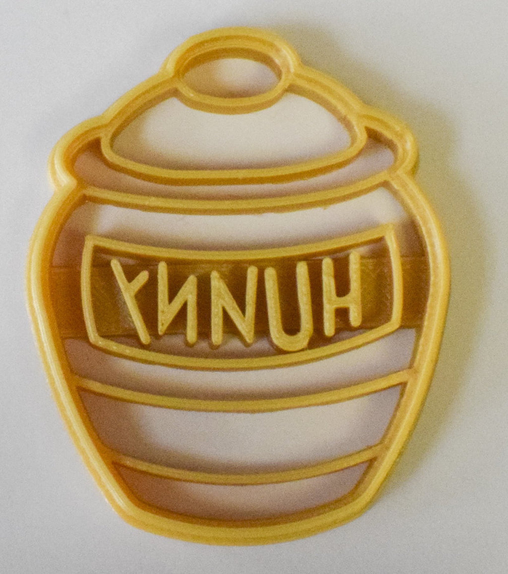 "Honey Hunny Pot Winnie the Pooh Disney Special Occasion Fondant Stamp Cutter or Cupcake Topper Size 1.75"" Made in USA FD797"