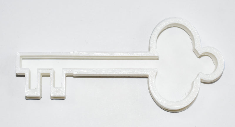 "Antique Old Victorian Skeleton Key Special Occasion Fondant Stamp Cutter or Cupcake Topper Size 1.75"" Made in USA FD475"