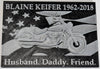 Motorcycle Flag Memorial Memory Wall Plaque Custom Color Name Years 3D Printed Made In USA PR961