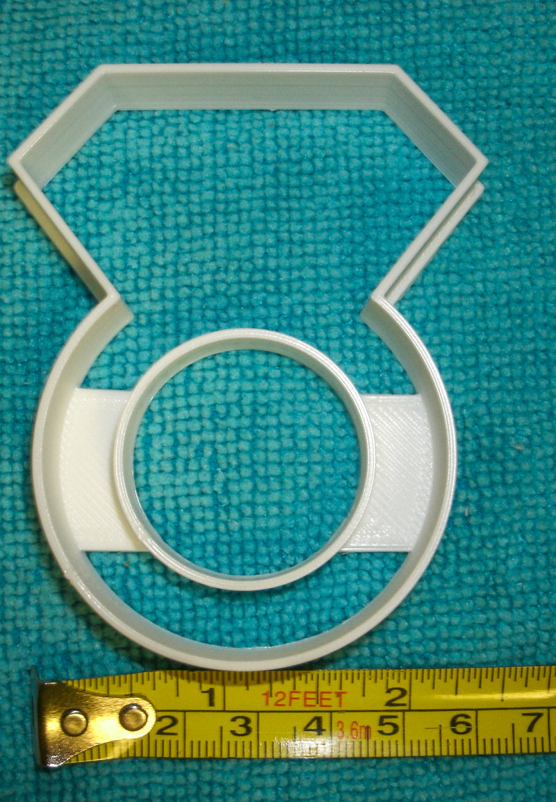 Diamond Ring Engagement Wedding Bridal Shower Bachelorette Party Jewelry Special Occasion Cookie Cutter Baking Tool Made in USA PR824