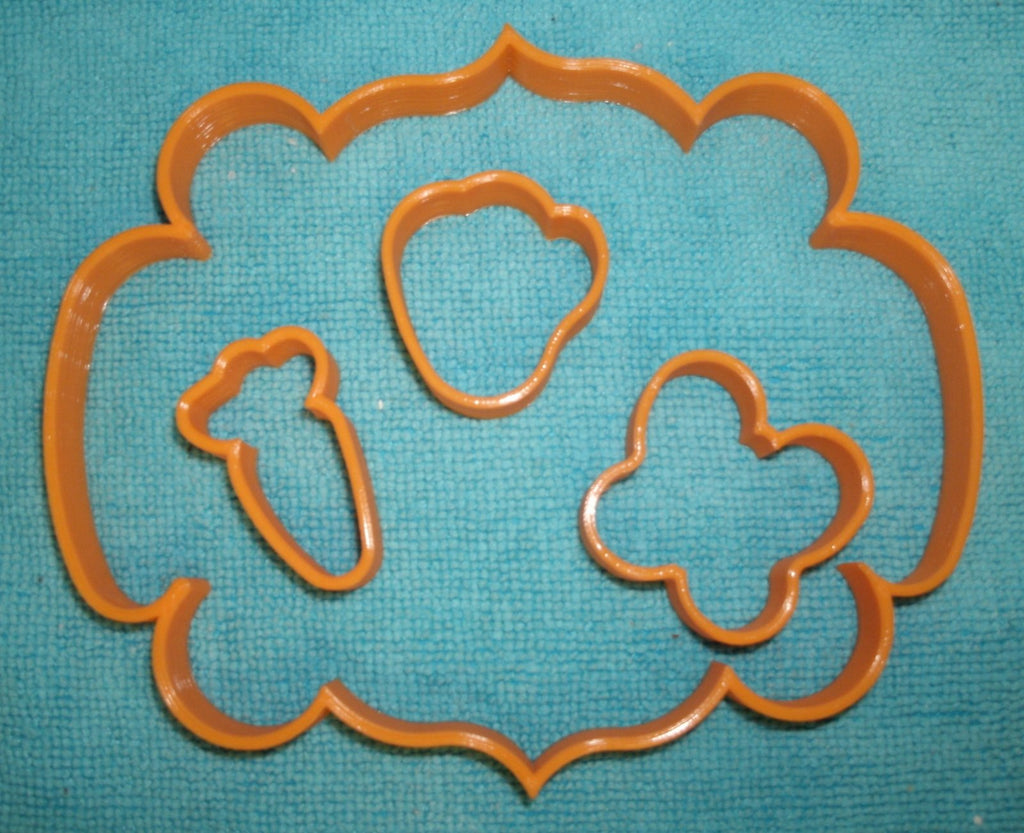 Easter Spring Tic Tac Toe 4 pc set of Special Occasion Cookie Cutters Baking Tool Made in USA PR674