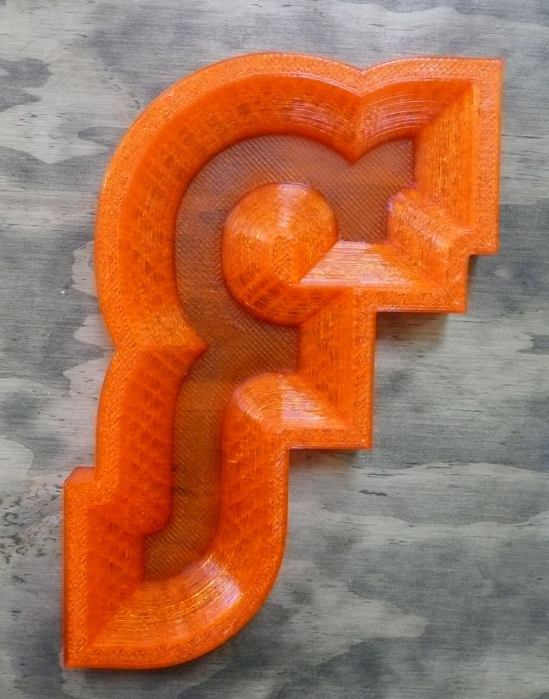 Letter Bowl Dish Decorative Home Decor Container Wall Art 3D Printed Made in the USA PR192