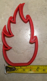 Fire Flames Campfire Firefighter Fireman Sam Special Occasion Cookie Cutter Baking Tool Made In USA PR913