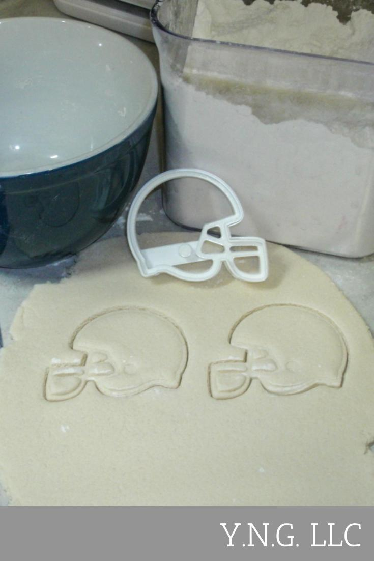 Football Helmet NFL National Football League American Sports Special Occasion Cookie Cutter Baking Tool Made in USA PR821