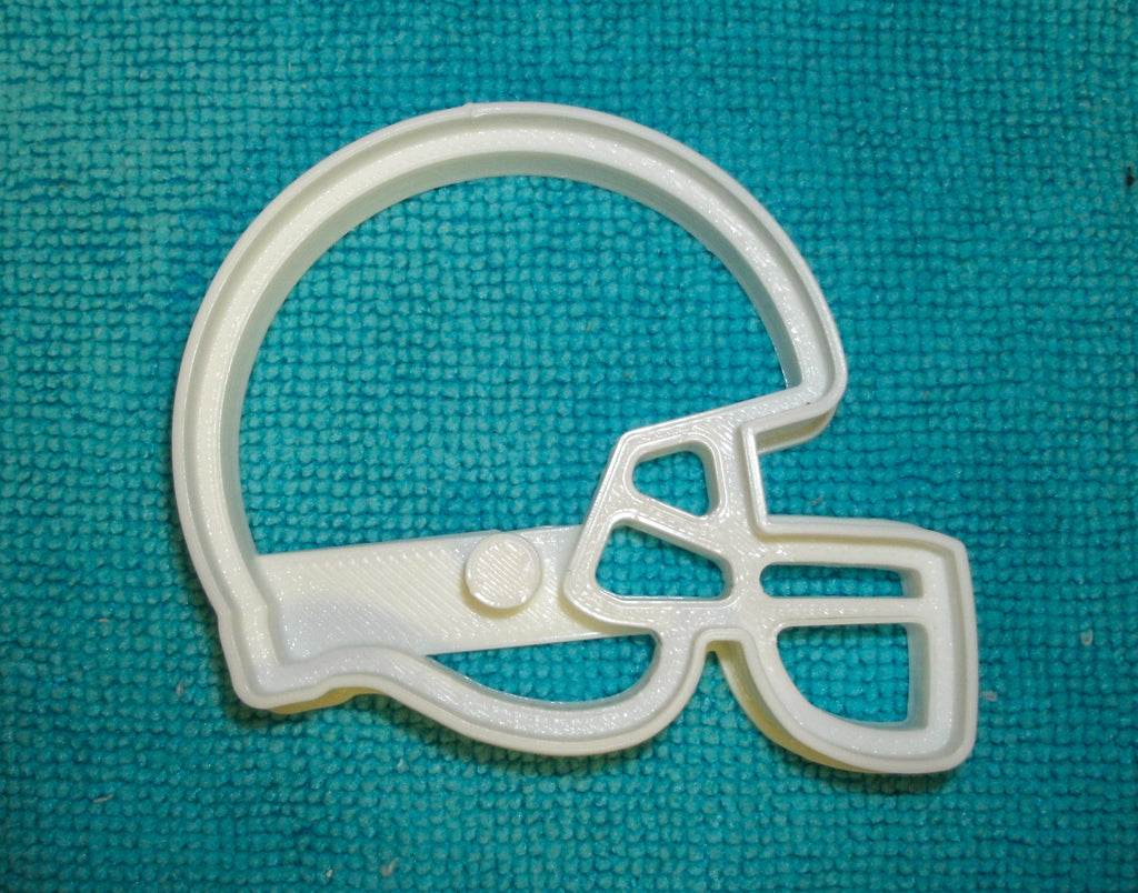"Football Helmet NFL National Football League American Sports Special Occasion Fondant Stamp Cutter or Cupcake Topper Size 1.75"" Made in USA FD821"