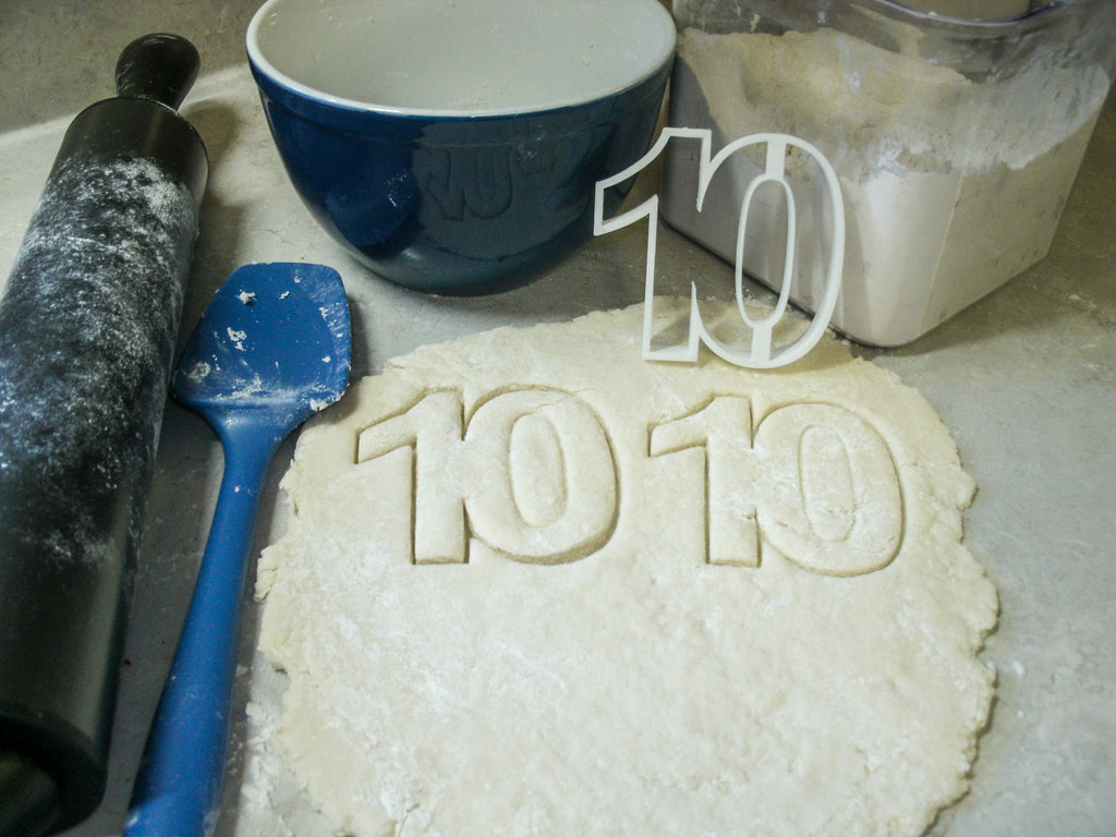 Number 10 Ten Birthday Anniversary Event Special Occasion Cookie Cutter Baking Tool Made In USA PR108-10