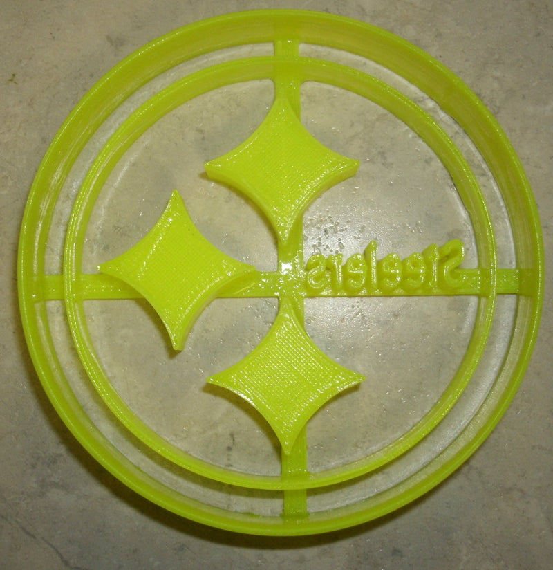 "Pittsburgh Steelers NFL AFC Football Sports Team Logo Special Occasion Fondant Stamp Cutter or Cupcake Topper Size 1.75"" Made in USA FD883"