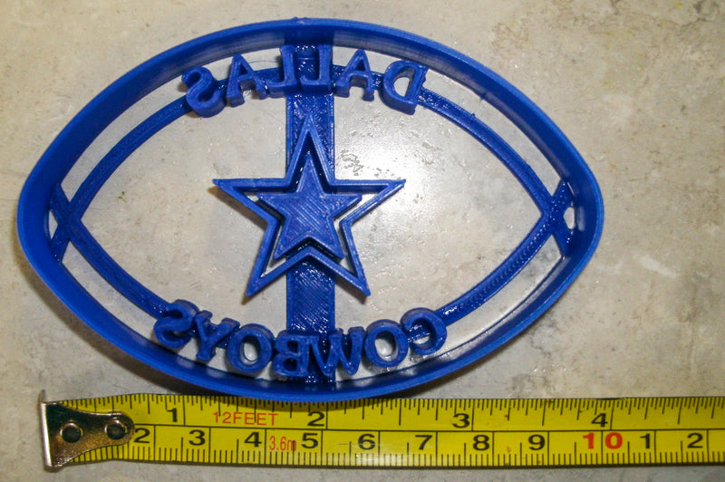 Dallas Cowboys NFL Football Team Sports Logo Special Occasion Cookie Cutter Baking Tool Made In USA PR934