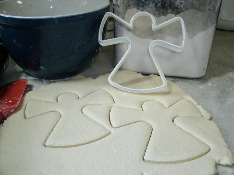 Snow Angel Christmas Holiday Snow Winter Season Special Occasion Cookie Cutter Baking Tool Made in USA PR274