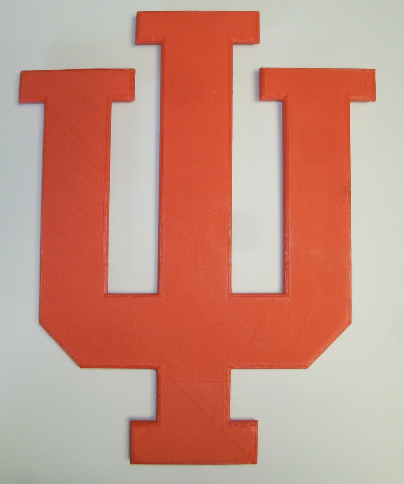 IU Indiana University Trident Symbol Logo Memorial Yard Sign Wall Hanging Home Decor 3D Printed PR956