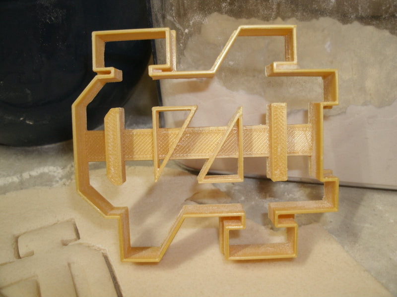 Notre Dame Sports Football Special Occasion Cookie Cutter Baking Tool Made in USA PR499