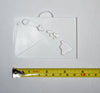 Hawaii State Outline Cutout In Rectangle Hanging Ornament Holiday Christmas Decor Made In USA PR244-HIR