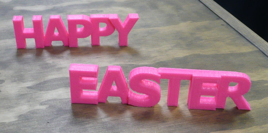 Happy Easter Quote Banner Holiday Display Sign 3D Printed Made In USA PR191-HE