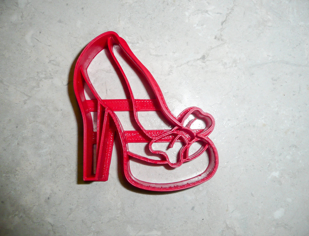 "High Heel Shoe Girls Women Lady Fashion Bachelorette Party Special Occasion Fondant Stamp Cutter or Cupcake Topper Size 1.75"" Made in USA FD263"
