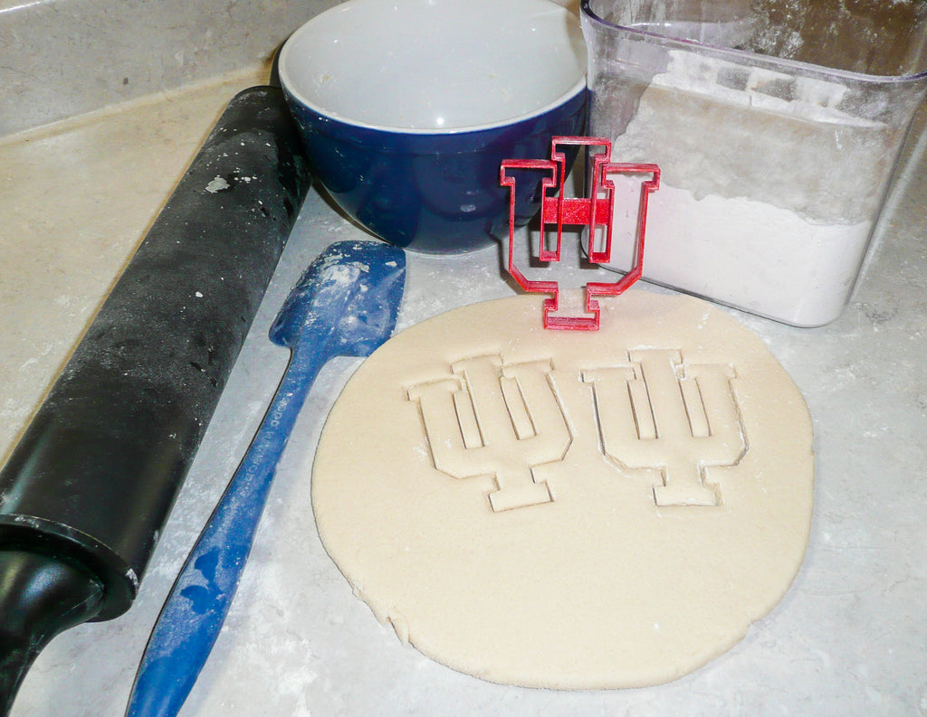 Indiana Hoosiers IU NCAA D1 Football Basketball Sports Logo Special Occasion Cookie Cutter Baking Tool Made In USA PR992