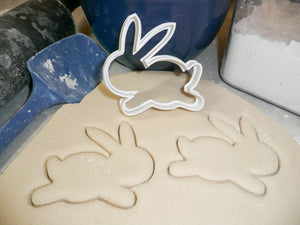 Jumping Easter Bunny Rabbit Spring Holiday Special Occasion Cookie Cutter Baking Tool Made In USA PR221