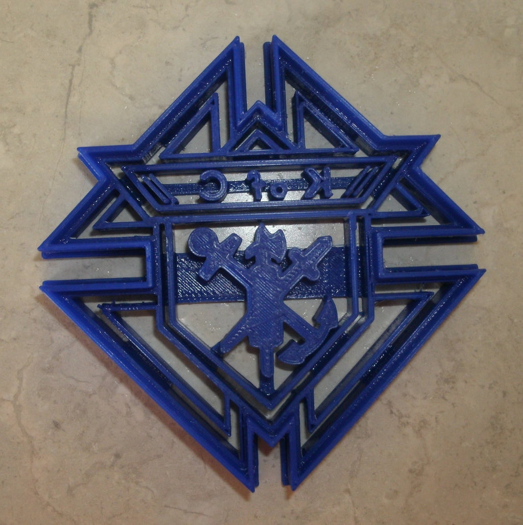 "Knights of Columbus Catholic Fraternity Logo Symbol Special Occasion Fondant Stamp Cutter or Cupcake Topper Size 1.75"" Made in USA FD771"