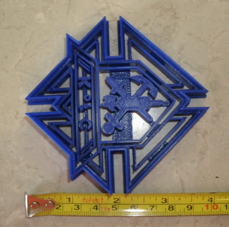 Knights of Columbus Catholic Fraternity Logo Symbol Special Occasion Cookie Cutter Baking Tool Made in USA PR771