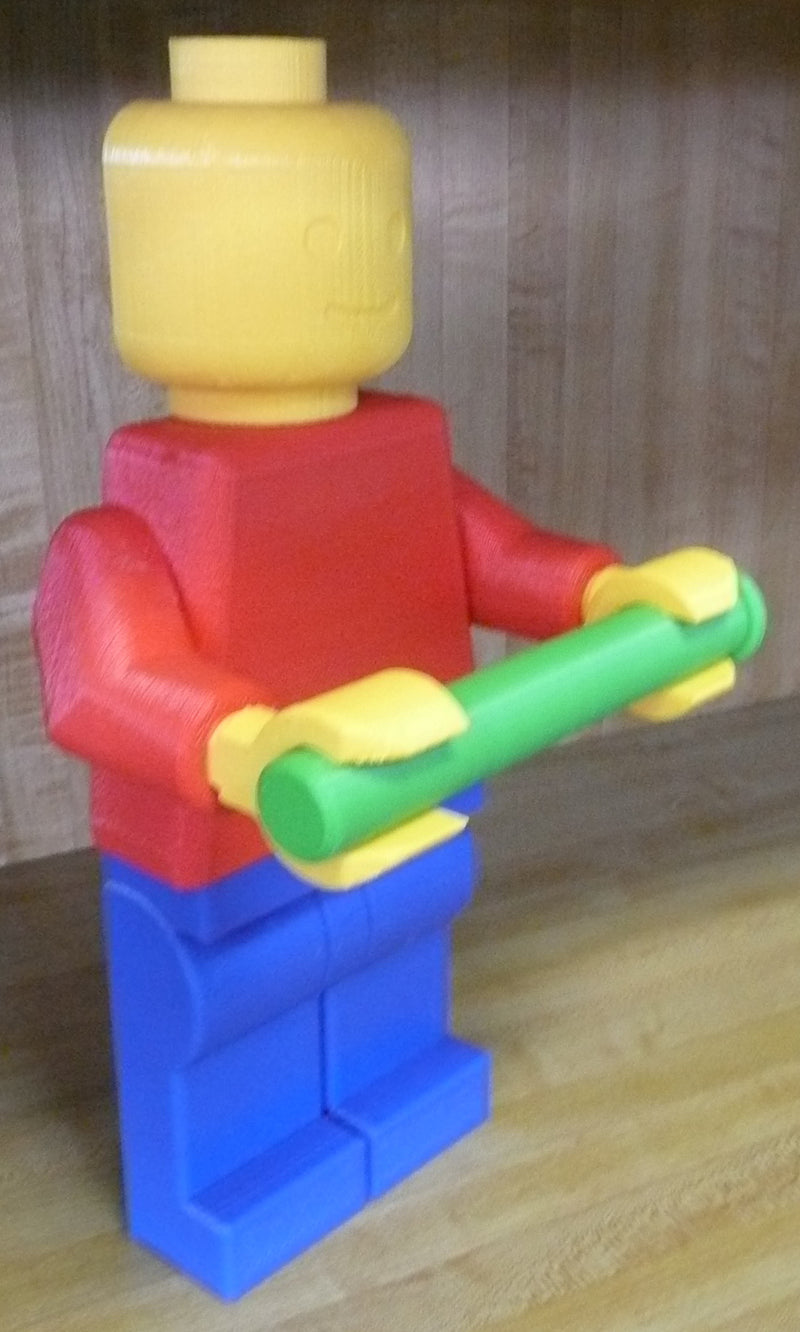 Lego Man Toilet Paper Holder Bathroom Mount or Stand 3D Printed - Made in the USA PR329