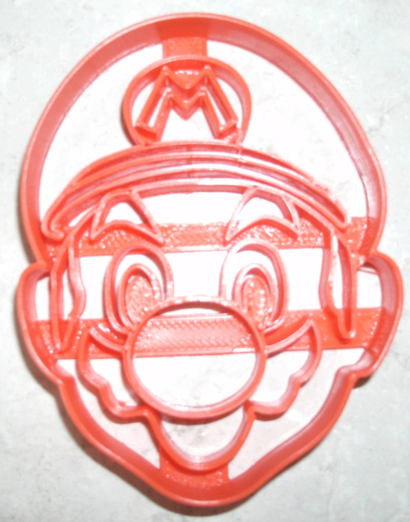 "6x Mario Video Game Character Fondant Cutter Cupcake Topper Size 1.75"" USA FD747"