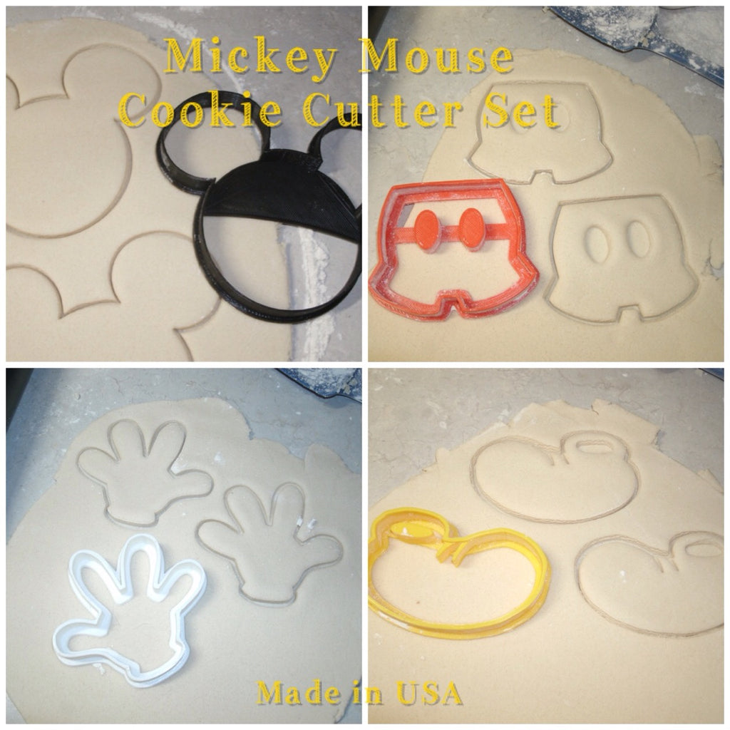 Mickey Mouse Set Cartoon Disney Character Cookie Cutter Baking Tool USA PR506