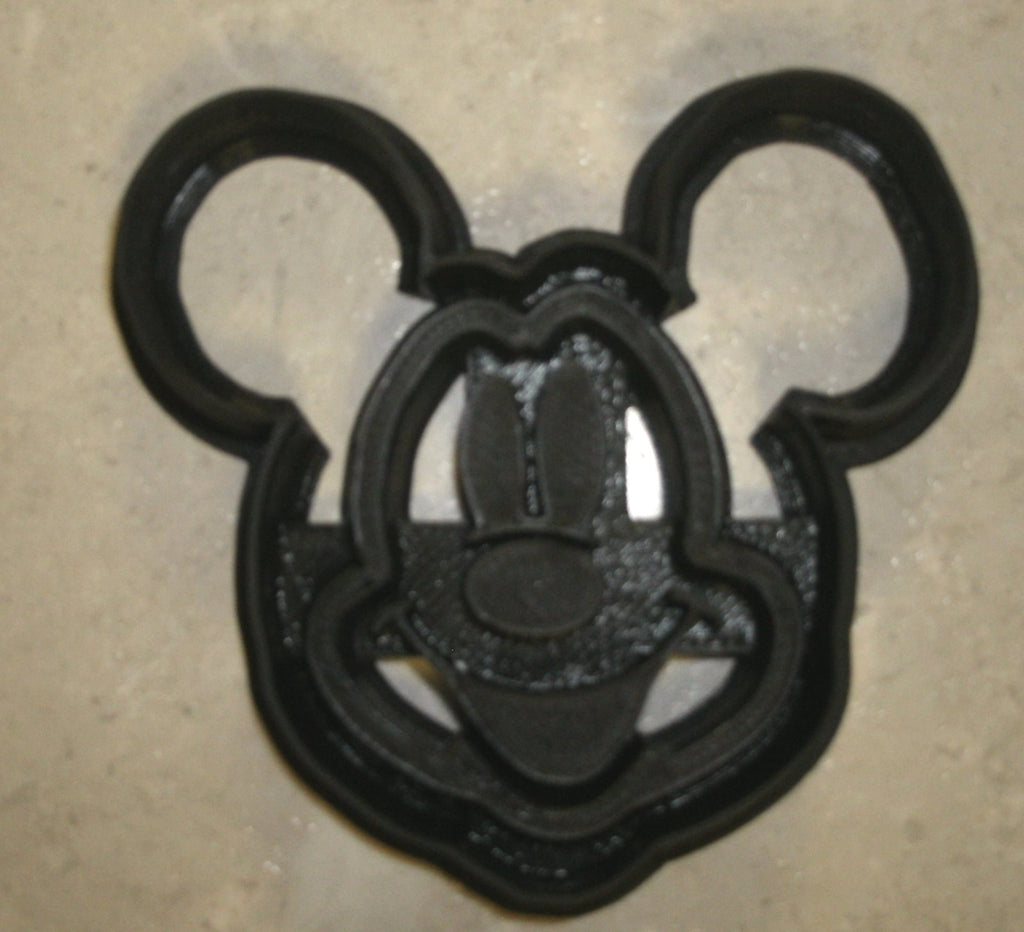 "Mickey Mouse Face With Details Disney Special Occasion Fondant Stamp Cutter or Cupcake Topper Size 1.75"" Made in USA FD758S"