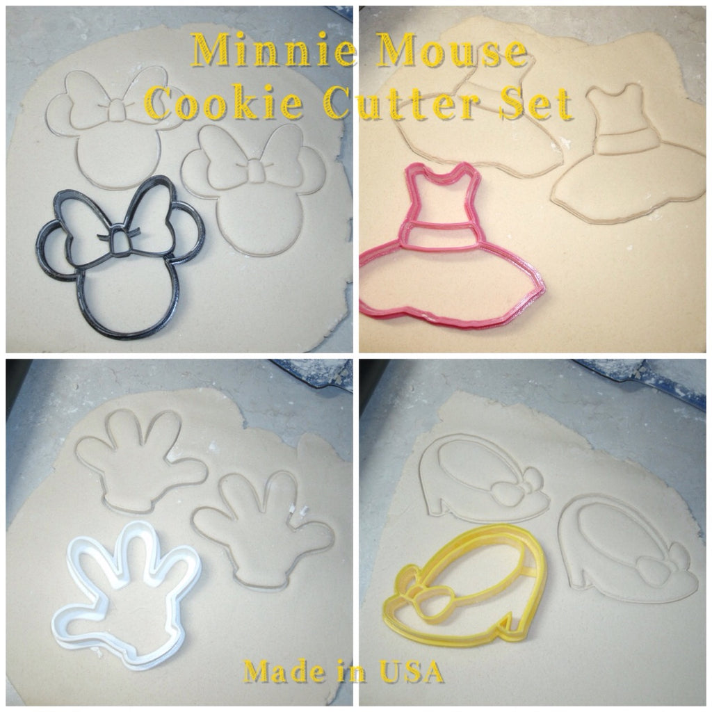 Minnie Mouse Set Cartoon Disney Character Special Occasion Cookie Cutter Baking Tool USA PR533