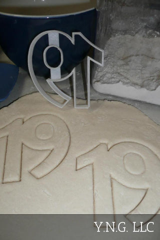 Number Fifty 50 Detailed Birthday Anniversary Sports Cookie Cutter USA PR3435