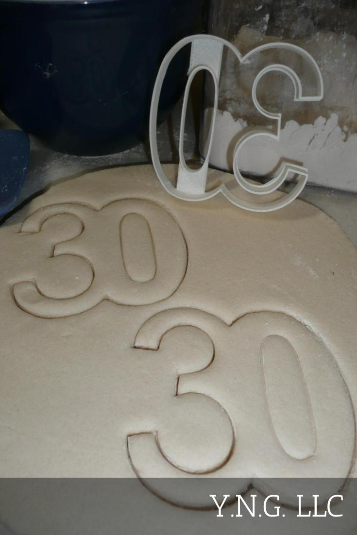 Number 30 Thirty Birthday Anniversary Sports Cookie Cutter USA PR108-30