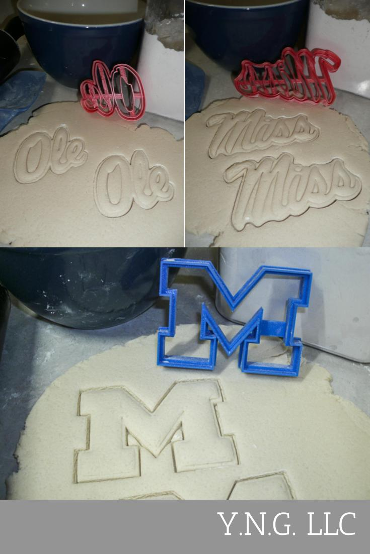 Wondrous Ole Miss University Of Mississippi Set Of 3 Cookie Cutters Usa Funny Birthday Cards Online Fluifree Goldxyz