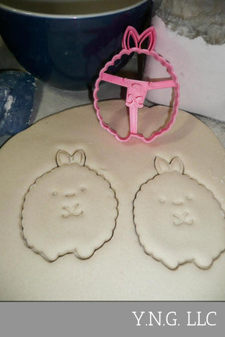 "Easter Bunny Special Occasion Fondant Stamp Cutter or Cupcake Topper Size 1.75"" Made in USA FD217"