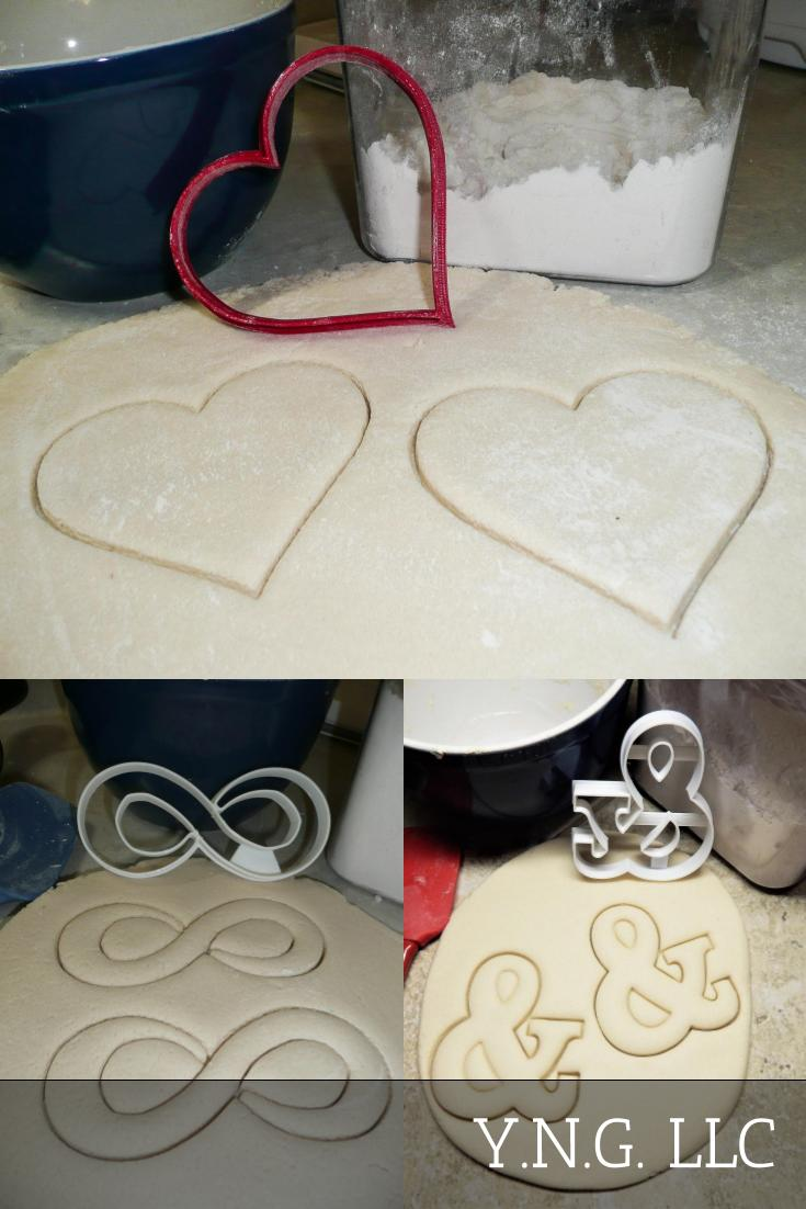 Forever Love Engagement Wedding Anniversary Set Of 3 Cookie Cutters USA PR1323
