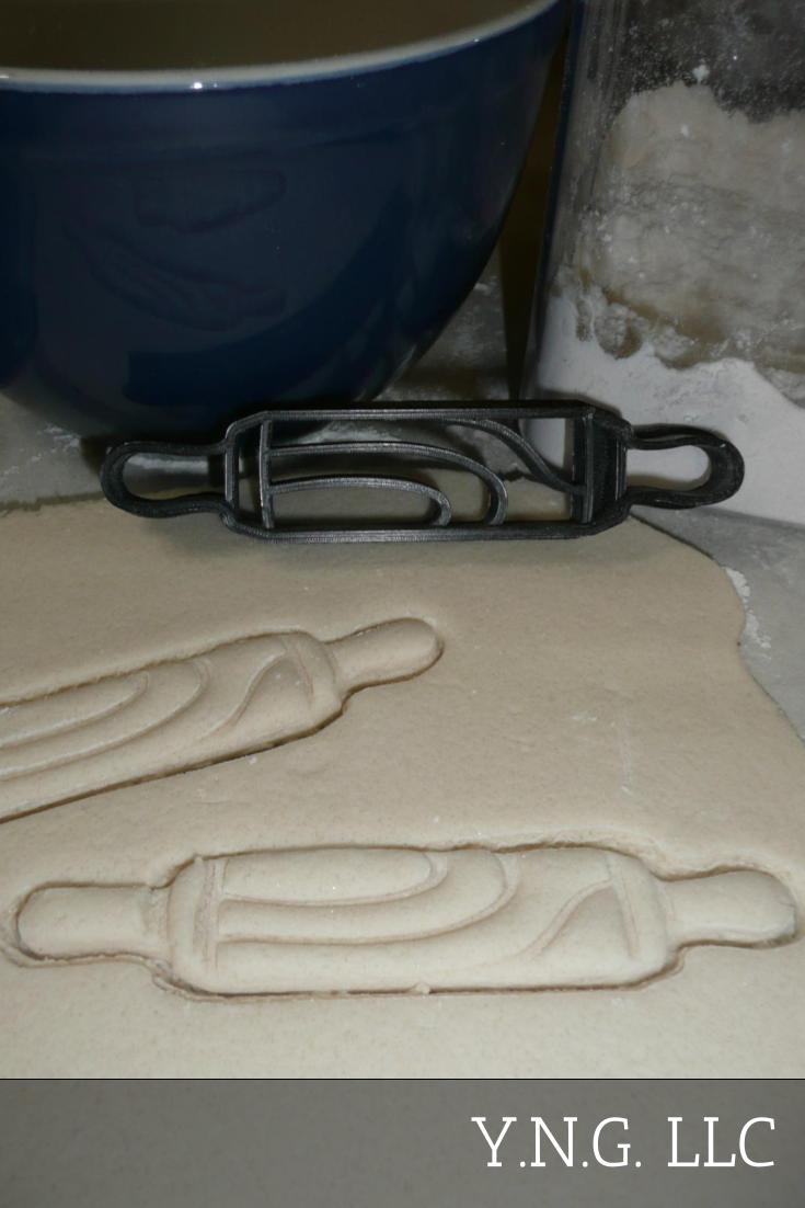 Rolling Pin Kitchen Chef Baker Bakery Baking Tool Special Occasion Cookie Cutter Made In USA PR2377