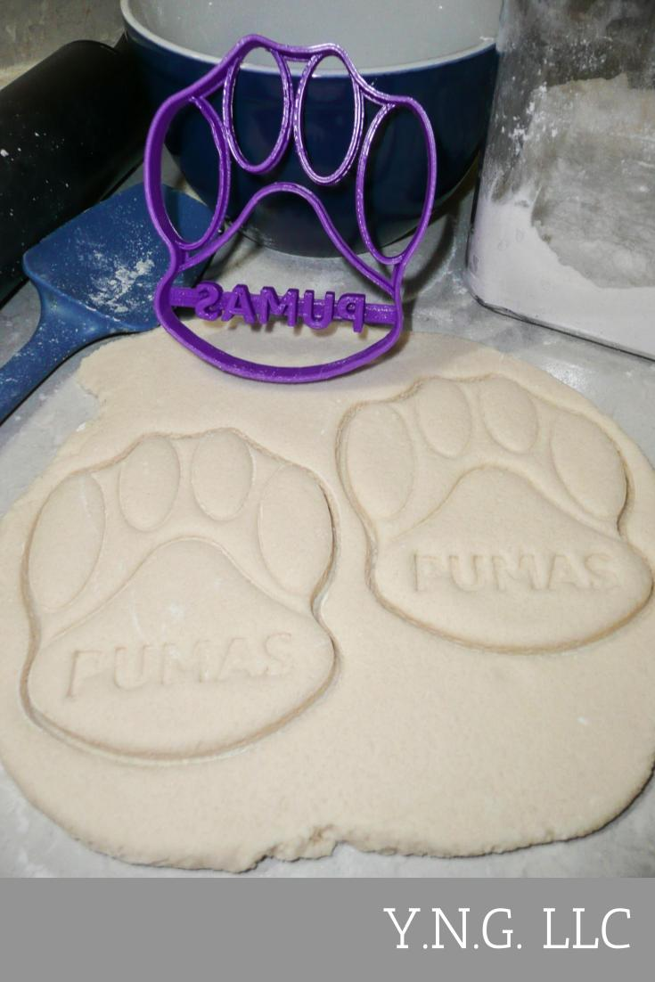 Saint Joseph's College SJC Puma Paw Special Occasion Cookie Cutter Baking Tool Made in USA PR313