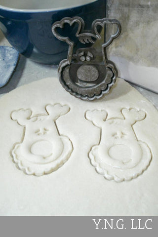 "Jingle Sleigh Bell Christmas Carol Song Winter Special Occasion Fondant Stamp Cutter Or Cupcake Topper Size 1.75"" Made In USA FD2225"