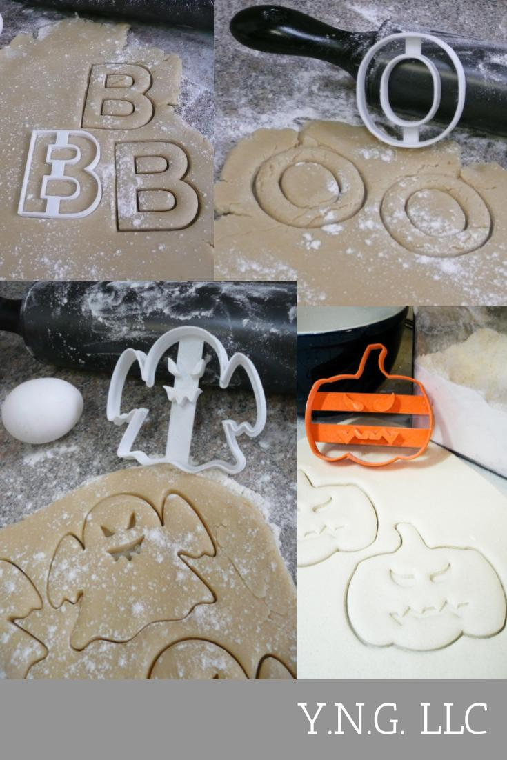 BOO Happy Halloween Kit Letter B O Ghost Pumpkin Fall Season Party Treat Set Of 4 Special Occasion Cookie Cutter Made In USA PR1245