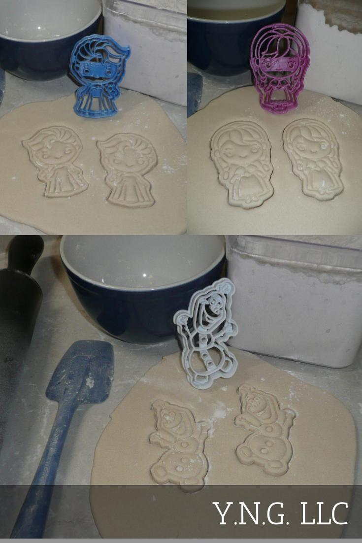 Frozen Ice Snow Queen Elsa Movie Characters Set Of 3 Cookie Cutters USA PR1251