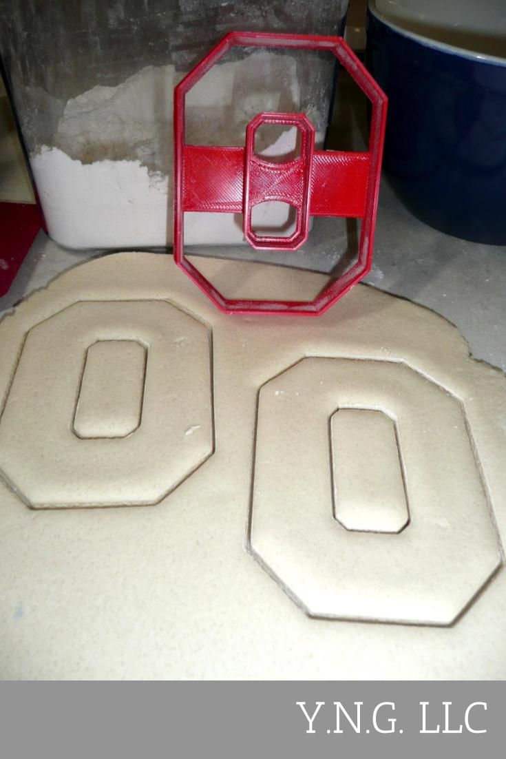Ohio State University Buckeyes O Logo Sport Athletics Cookie Cutter USA PR2453