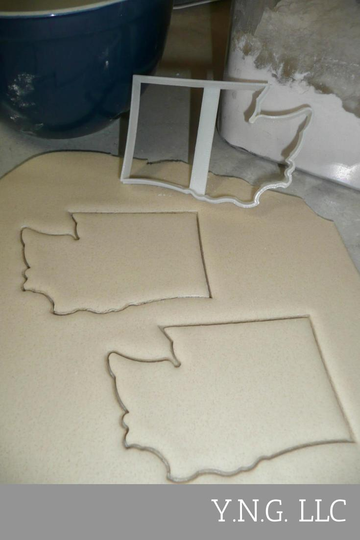 Washington Outline Evergreen State Pacific Northwest Cookie Cutter USA PR3014