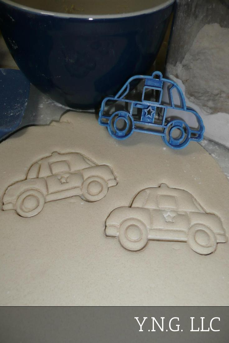 Police Car Ground Emergency Vehicle Transport Patrol Cookie Cutter USA PR2607
