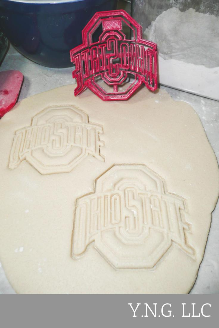 Ohio State Buckeyes Football Logo NCAA D1 Special Occasion Cookie Cutter Baking Tool 3D Printed Made In USA PR925